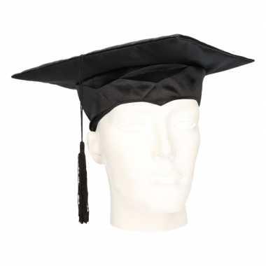 Afstudeer hoed zwart vilt volwassenen