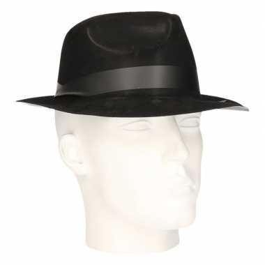 Al capone hoed zwart volwassenen