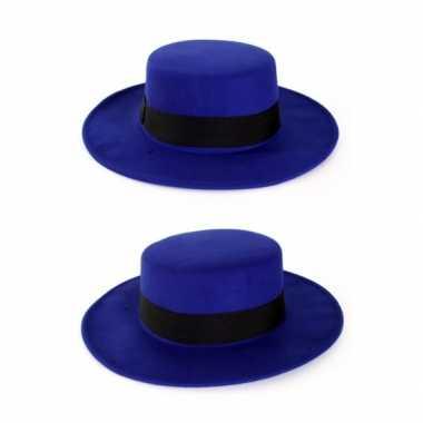 Blauwe spaanse hoed band