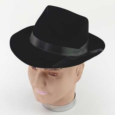 Blues brothers hoed zwart volwassenen