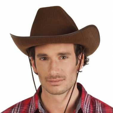 Bruine cowboyhoed rodeo vilt volwassenen