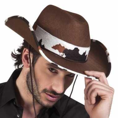 Bruine cowboyhoed texas koeien volwassenen
