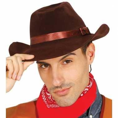 Bruine cowboyhoed volwassenen