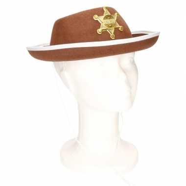 Bruine sheriff hoed kinderen