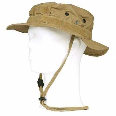 Bush/ranger hoed beige volwassenen