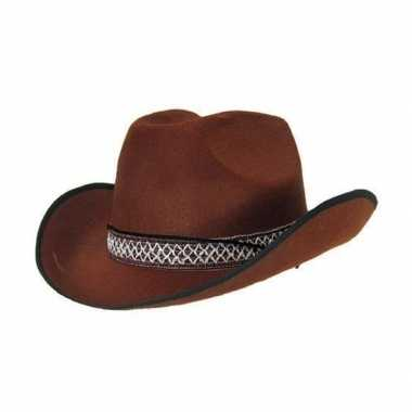 Cowboyhoed bruin volwassenen