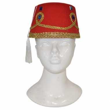 Fez hoed decoratie volwassenen