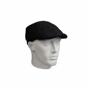 Flat cap zwart