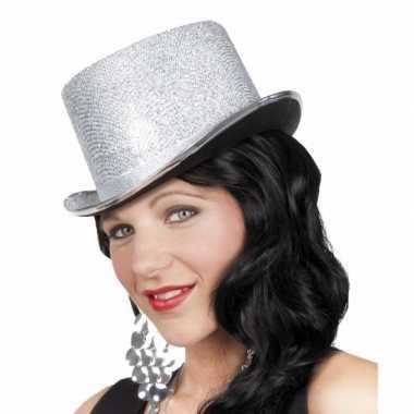 Glimmende zilveren feest hoed