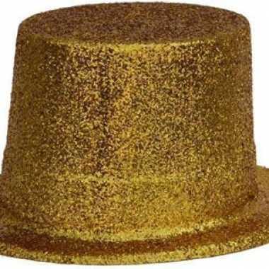Gouden glitter hoed