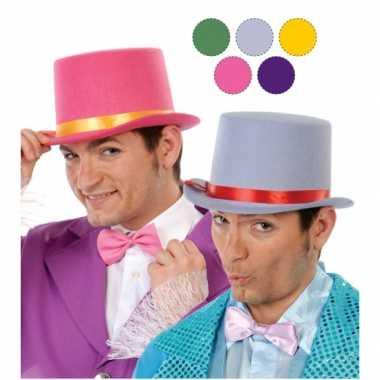 Grijze hoge hoed vilt volwassenen