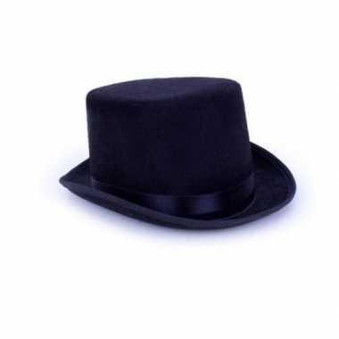 Halloween hoge gothic horror zwarte hoed