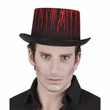 Halloween hoge halloween hoed druipend bloed volwassenen