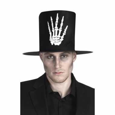 Halloween Hoge hoed zwart skelet hand