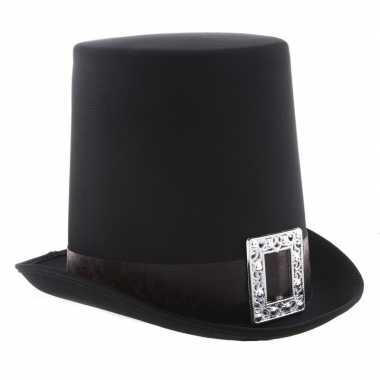Halloween zwarte halloween hoge hoed gesp volwassenen