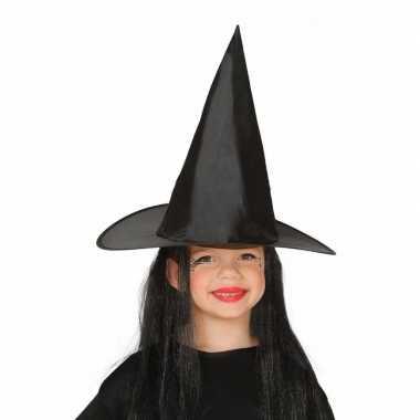 Halloween zwarte heksenhoed haar meisjes