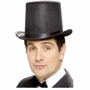 Hoge hoed zwart vilt heren