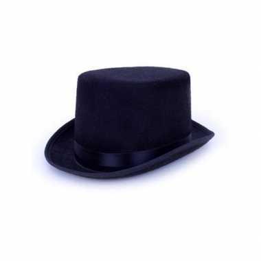 Hoge zwarte hoed