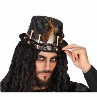 Horror verkleed hoed zwart botten volwassenen