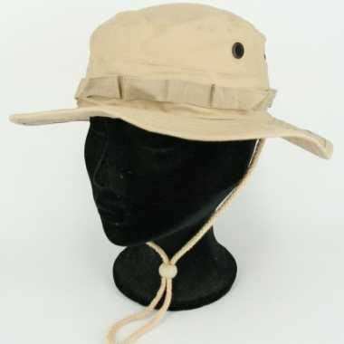 Khaki bush hoed ripstop
