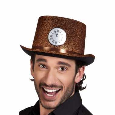 Koperen hoge hoed klokje volwassenen