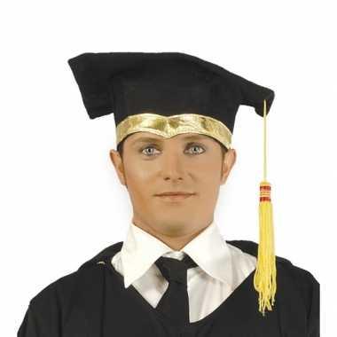 Luxe afstudeer hoedje met gouden details
