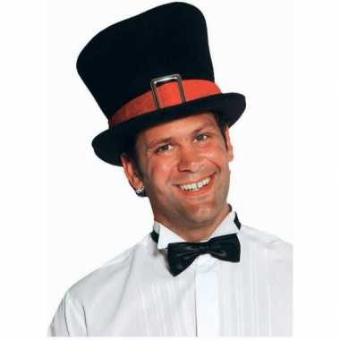 Luxe zwarte hoge hoed volwassenen