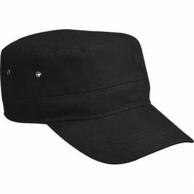 Militairy look rebel cap zwart