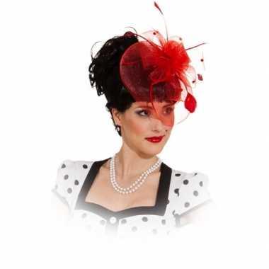 Mini hoed rode rozen kam