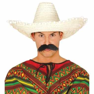 Naturel sombrero/mexicaanse hoed volwassenen