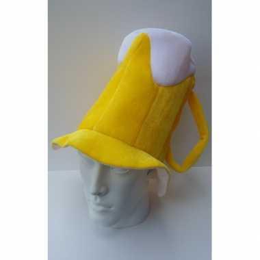 Oktoberfest Bierpul hoed met schuimkraag