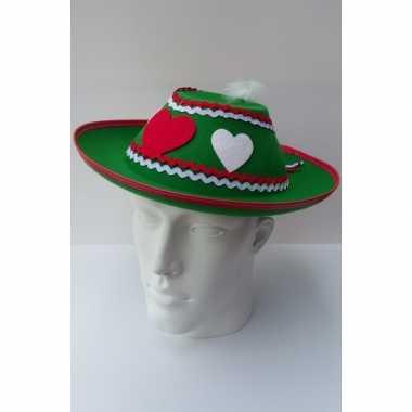 Oktoberfest Tiroler hoed voor dames