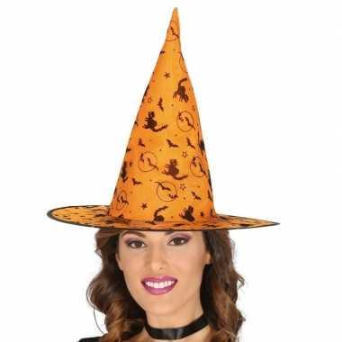 Oranje heksenhoed dames