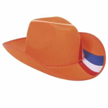 Oranje hoed met Holland kleuren