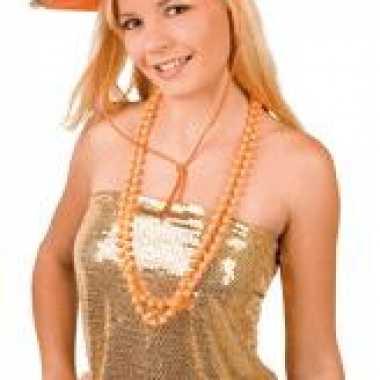 Oranje sheriff cowboyhoed