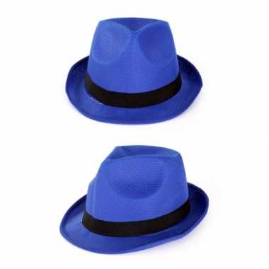 Party gleufhoedjes blauw