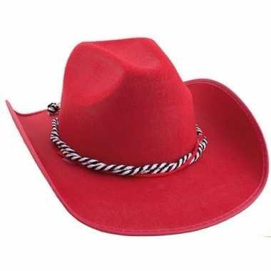 Rode cowboyhoeden koord