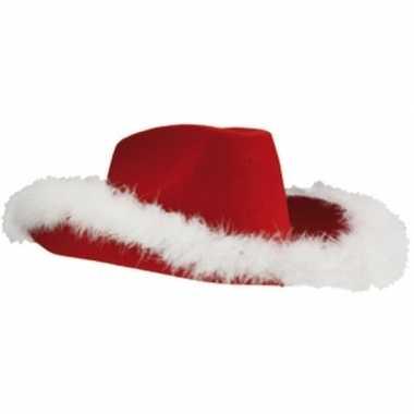 Rode kerst cowboyhoed