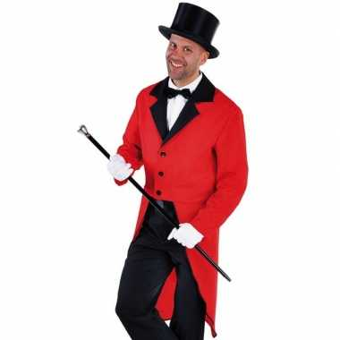 Rode slipjas zwarte hoge hoed maat l