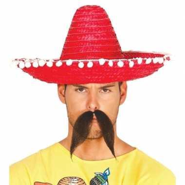 Rode sombrero/mexicaanse hoed volwassenen