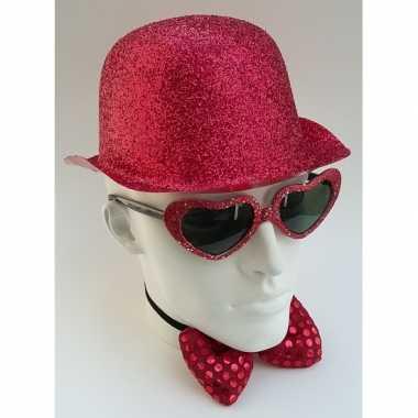Rood bolhoedje glitters