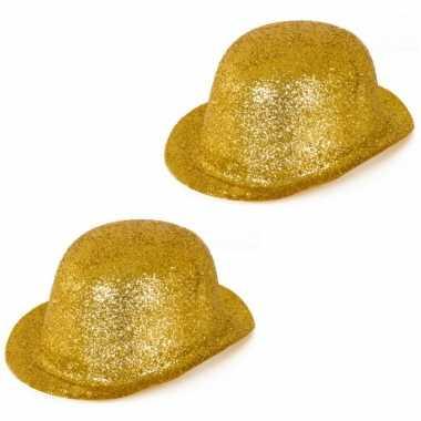 Set stuks gouden glitter verkleed bolhoeden