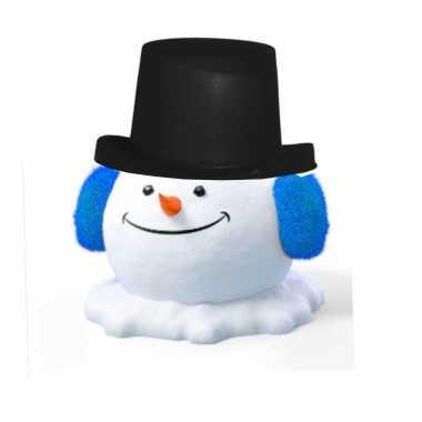 Sneeuwpop zwarte hoge hoed