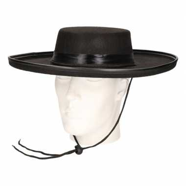 Spaanse zwarte hoed volwassenen