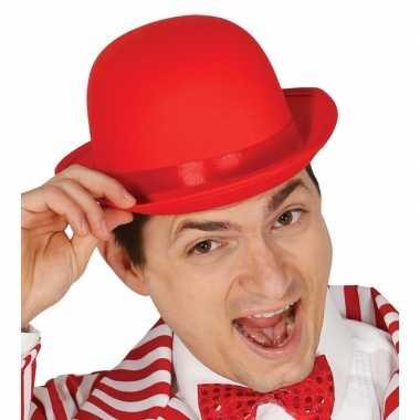 Toppers rode bolhoed/verkleed hoed volwassenen