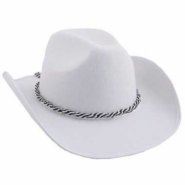 Witte cowboyhoeden koord