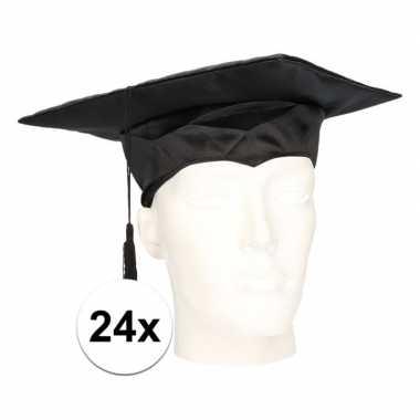 X geslaagd hoedje / afstudeer baret volwassenen