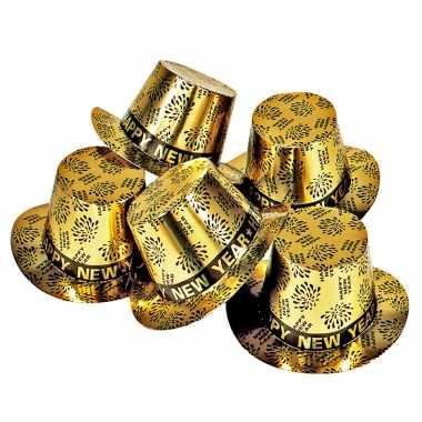 X gouden feest hoeden happy new year