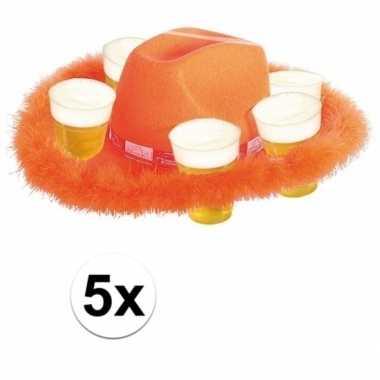 X oranje bier hoeden bont 10158197