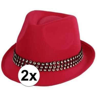 X roze toppers hoed zilveren steentjes